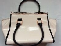 Ted Baker bag pale pink with rose gold & black trim