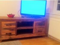Real wood Solid oak TV cabinet 250 ono
