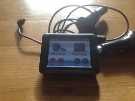 Sat Nav Garmin, leather holder and USB port