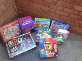 Bundle of board games speak out never used great for car boot