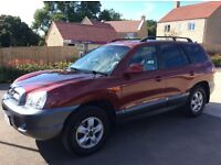 Hyundai Sante Fe 2002 red diesel 4x4 Good condition