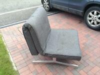 Modern grey chair bed. £60 Ono.