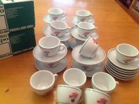 Coffee cups & saucers joblot, 36 in total