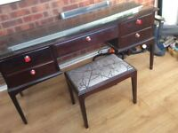 Stag Minstrel Dressing Table with Glass Top and Stool