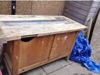 Old school workshop workbench