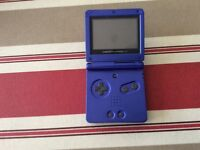 Game Boy Advance SP, Charger, Carry Case & Games