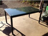 Ratten Garden Table for the Patio