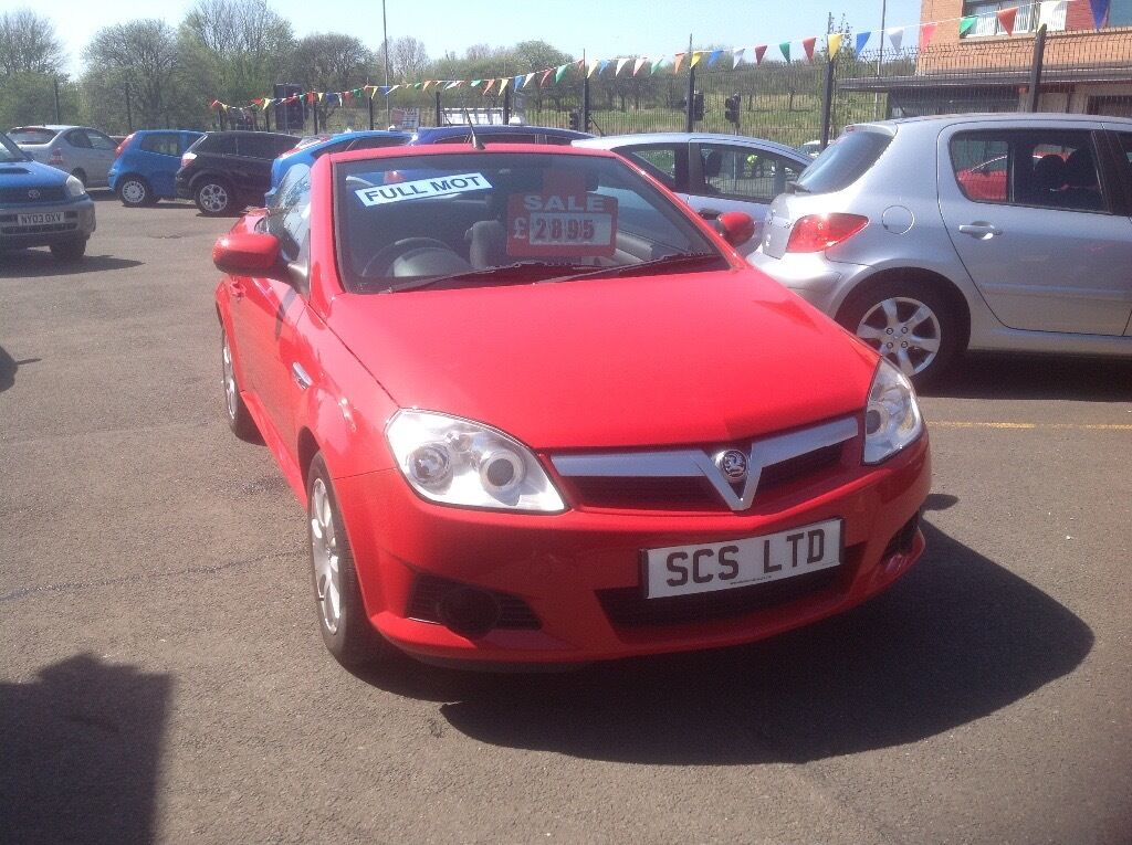 Vauxhall Tigra 1.4 58 plate only 58000 miles FSH MOT ONE YEAR bright red convertible
