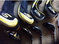 Cobra S2 golf clubs, S2 driver 10.5, S2 3 driver, 3 and 4 Baffler rail clubs