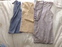 Ladies clothes for sale, light / pale colours, sizes 20 - 22/24, 7 tops, 1 pair trousers
