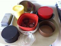 2 Kitchen bundles and 4 white dinner plates as new retro Pyrex bargain price
