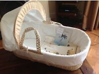 Lovely brand new Moses basket with two fitted sheets