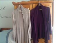 Size 16 waterfall cardigans