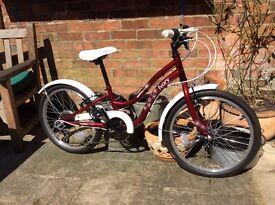 "Girls Bicycle Apollo Ivory 20"" wheels. Shiamano gears. VGC"