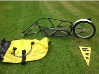 Bob yak bicycle trailer for cycle touring - North Bristol