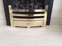 Brass Gas Fire Fret - Barcelona Design - Used