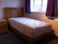 Single Wooden Bed Frame and Quality Mattress