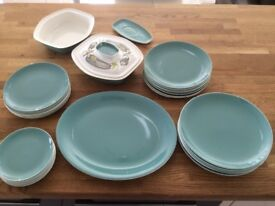 Poole Pottery plates and terrines