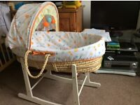 Maxi-Cosi car seat and Moses basket with rocker stand