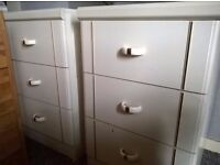 Two bedside cabinets drawers