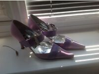 Beautiful satin shoes
