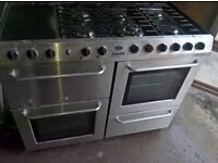 Silver belling Range gas cooker 100cm.. Mint Free delivery