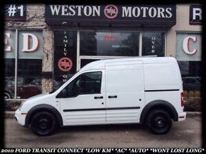 2010 Ford Transit Connect XLT *LOW KM *AC *AUTO *WONT LAST LONG!