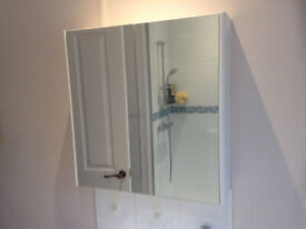 Loverly bathroom Cabinet, white, mirror doors