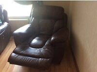 Lovely Brown Leather suite for sale