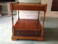 Quality square table with drawer