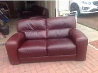 Brown leather couches bought from reids
