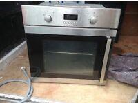 Oven stainless steel,(hinged door),good condition,£95.00