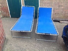 2 folding camp beds good condition
