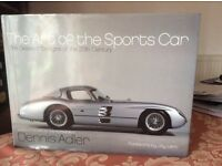 The Art of the Sports Car book with cover by Dennis Adler