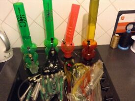 Water pipes with accessories