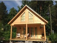 BEACH HUTS, CHALETS, RESIDENTIAL LOG CABINS, GRANNY ANNEXES, HOLIDAY HOMES, TIMBER GARDEN BUILDINGS