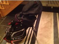 Motocaddy cart / carry stand bag, black and red, good condition