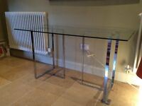 Glass topped dining/office table