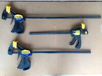 Large Quick Grip Clamps X 3