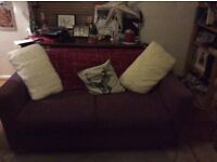 Free Purple sofa works sofa bed hardly used good condition need to collect