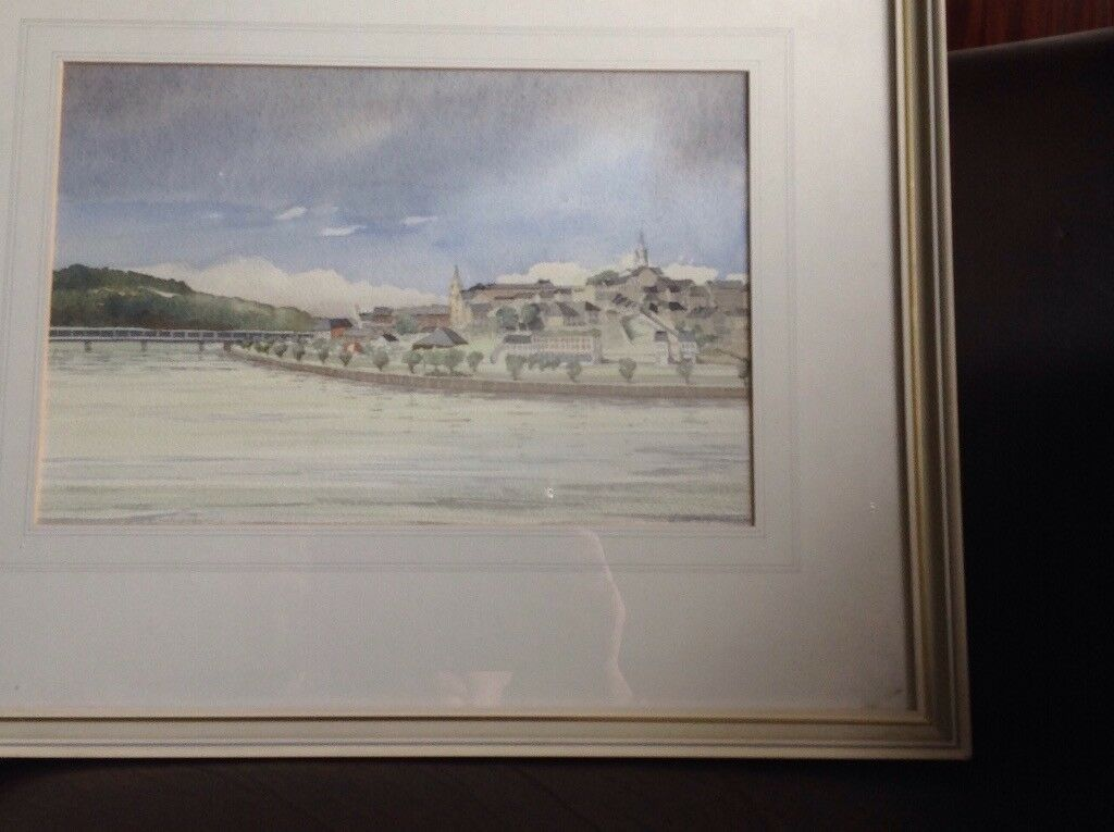 Original watercolour of the River Bann at Coleraine