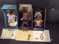 Boxed Meerkats with Certificates including Oleg BB.8 Star Wars