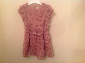 Girls dusky pink dress