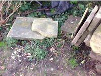 Garden Yorkshire stone paving flags