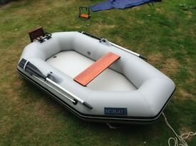 Inflatable Dinghy / Tender Seago 230RT for 2-3 persons, very good condition, including oars & pump
