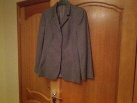 Next Ladies wool Grey trouser suit Size 12