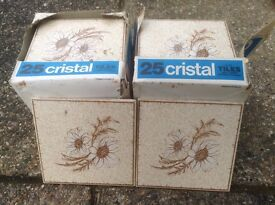 FANTASTIC 1970's CRISTAL TILES LOOKING TO BE USED