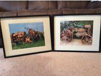 Two Framed Farm Tractor Prints both 53cm x 43cm