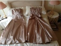 Two bridesmaid dresses size 10 & 12