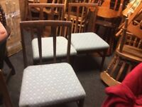 4 Ercol retro dining chairs